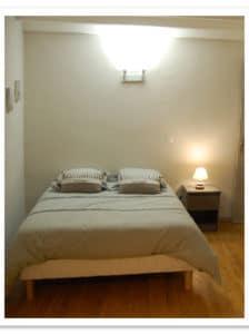 Une des chambres de la maison d'hôte, la maison d'Elise à Rennes-le-château